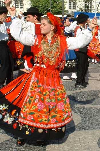 Portuguese traditional dancers