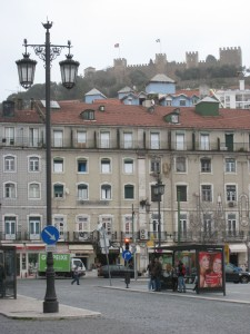 Lisbon in the rain: damp, but still lovely
