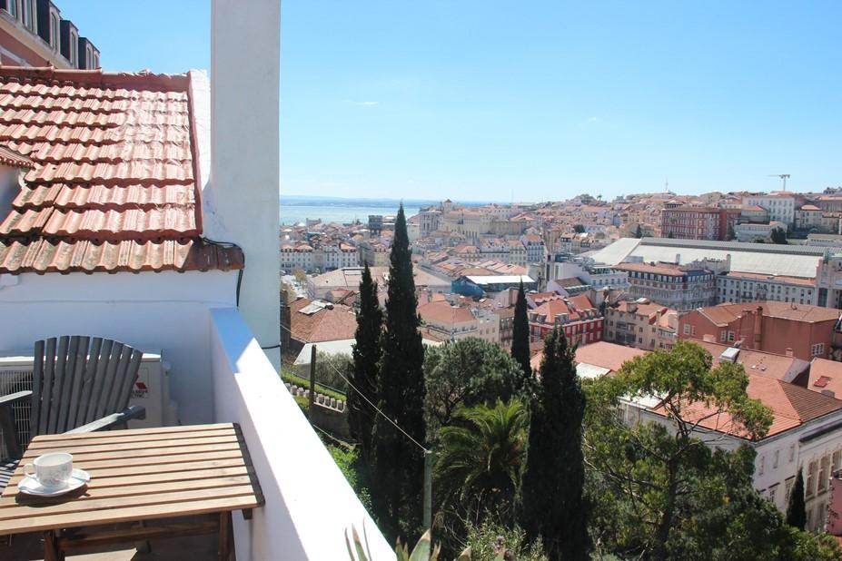 luxury vacation villa terrace view